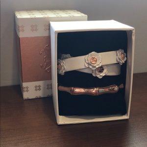 Bracelet Set (Rose Gold and White)